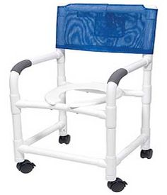 Extra-Wide PVC Shower Wheelchair / Commode Chair $298.00 FREE Shipping from uCan Health || These shower wheelchairs / commode chairs are constructed of the highest quality furniture-grade PVC., Extra-Wide PVC Shower Wheelchair, Extra Wide Commode Chair