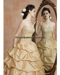 2010 Summer quinceanera dress,Perfect Quinceanera Dresses 86068-1,discount designer quinceanera ball gowns,Beaded embroidery decorates the strapless bodice with asymmetrical draping at the hips. Waterfall ball gown skirt with sparkling beads.br /