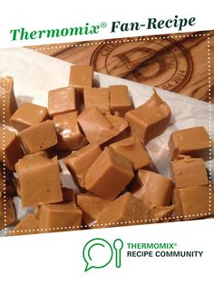 Recipe Easy Salted Caramel Fudge by learn to make this recipe easily in your kitchen machine and discover other Thermomix recipes in Desserts & sweets. Fudge Recipes, Sweets Recipes, Easy Desserts, Cooking Recipes, Carmel Fudge, Salted Caramel Fudge, Hamper Ideas, Thermomix Desserts, Christmas Cooking