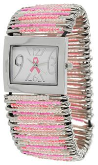 Beaded Pink Ribbon Watch at The Breast Cancer Site