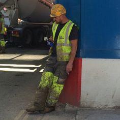 Hi Vis Workwear, Working Man, Work Hard, Hot Guys, Gay, Blue, Construction Worker, Fashion, Boots