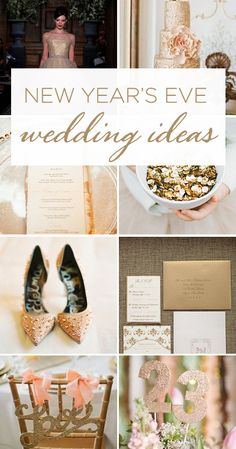 Gold, Glitter, & Sparkle....the perfect ingredients for a New Year's Eve Wedding! See more beautiful details =>