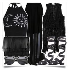 """""""Black Veil"""" by madeinmalaysia ❤ liked on Polyvore featuring Carven, Abercrombie & Fitch, Nicholas Kirkwood, Boohoo and Proenza Schouler"""