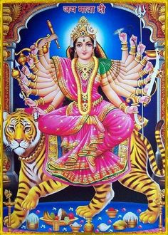Durga Mata. 3rd Day of Navratri. It's all about positive thinking and good energy