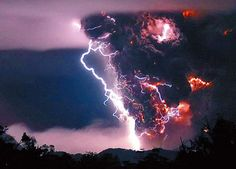 Volcanic lightning. Something you just have to see.