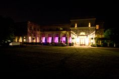 Lighting the outside of the venue is just as important as lighting the inside. It'll your guests first impression!