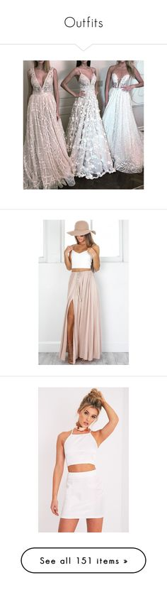 """Outfits"" by isthelastofus ❤ liked on Polyvore featuring skirts, white skirt, beige skirt, white maxi skirt, floor length white skirt, long beige skirt, mini skirts, white, sexy short mini skirts and jacquard skirts"