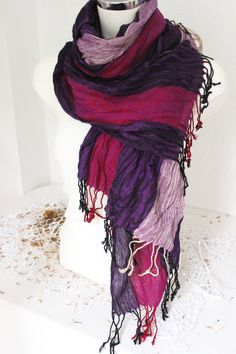 Purple Men scarves Oversized scarves men by Nazcolleccolors