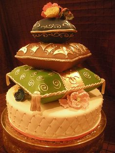 Indian-themed cake by A Sweet Design