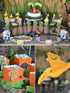 Dinosaur Party Ideas, decorations and Desserts table DIYs