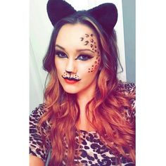 leapord makeup halloween makeup diy costume artist facepaint leapord - Scary Cat Halloween Costume