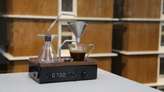 Coffee aficionados agree pour over gives you a better cup of coffee, but the old school coffee pot's auto start timer is a great way to not have to think before your first sip. UK designer Joshua Renouf figured out how to give you the best of both worlds, all in an alarm clock.