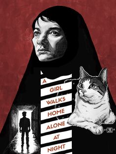 A Girl Walks Home Alone at Night by Josh Johnson - Home of the Alternative Movie Poster -AMP-