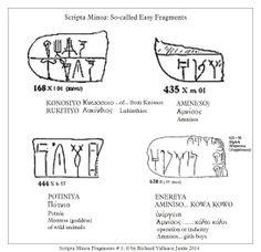 #Scripta Minoa #Linear B #decipherment #fragments #vocabulary Click to ENLARGE