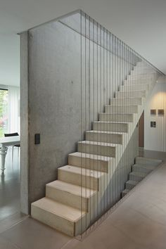 Bold Empire // House on Bergstrasse by 1100 architects Modern Stairs Architects Bergstrasse Bold Empire House House Staircase, Interior Staircase, Staircase Railings, Stairs Architecture, Staircases, Railing Design, Staircase Design, Staircase Ideas, Empire House
