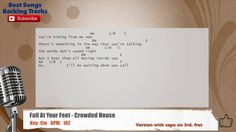 Fall At Your Feet - Crowded House Vocal Backing Track with chords and ly...