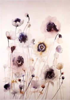 Lourdes Sanchez - anemones #3 | From a unique collection of paintings at http://www.1stdibs.com/art/paintings/