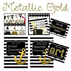 Metallic Gold Teacher Resources