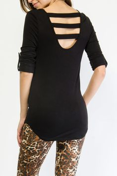 Strap Back Cut Out Top -- $6.99  I want all the colors: gray, charcoal, and black