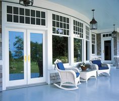 Perfect porch area with the most perfect Marvin windows! Please call NEXT for all of your window and door needs. 630-590-1201.