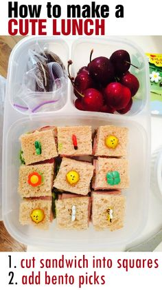 Make a cute bento lunch packed in @easylunchboxes