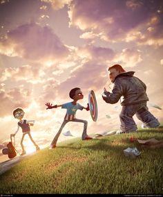 CGTalk - I am Captain America, Victor Hugo Queiroz (3D)
