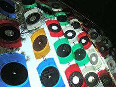 Vinyl Record Suncatcher  One Strand of 5 Pieces Made door EyePopArt, $18.00