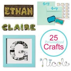 25 Personalized Crafts @Spoonful