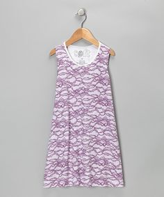 Love this Purple Lace Shift Dress - Toddler & Girls by Soft Clothing on #zulily! #zulilyfinds