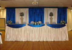 Royal Blue Wedding Decorations Ideas | Home Chair Covers Wedding Ceremonies Wedding Receptions Up-Lighting ...