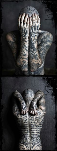 Rick Genest aka Rico the Zombie Boy  #RickGenest aka: #RicotheZombie or #ZombieBoy  #BodyTattoos #FaceTattoos #Tattoos