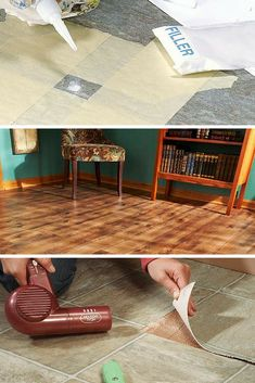 Vinyl Flooring: These articles will show you how to repair and install vinyl flooring. Read more: http://www.familyhandyman.com/floor/vinyl-flooring