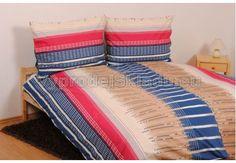 TOP Q predĺženej bavlnené obliečky 4dielne LUNA modré