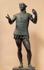 Mars of Todi - Todi-Monte Santo, end of 5th cent. BC hollow-cast bronze, height cm 141