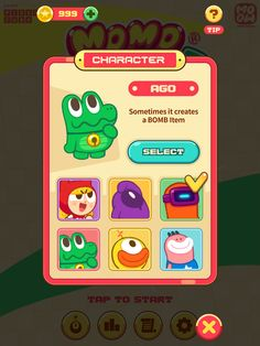 모모 스트라이크 (MOMO STRIKE) - 귀여움 폭발! 무한 블록 격파 by NHN Pixelcube.co.,ltd Simple Character, Game Character, Character Concept, Character Design, Game Ui Design, App Design, Vector Graph, Android Design, Game Icon