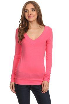 Long Sleeve T Shirt V Neck Tee Shirt Top Long Sleeve Tops for Women Casual Women Tees
