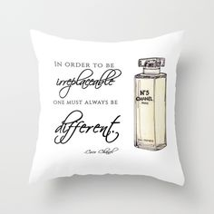 No.5 Quote Throw Pillow