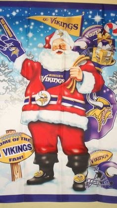 I just KNEW Santa was a Vikings fan lol Football Baby, Football Team, Seahawks Football, Viking Christmas, Minnesota Vikings Football, Viking Men, Nfl Memes, Nfl Packers, Football Conference