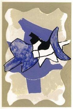 Livre Illustré - Georges Braque - RIBEMONT-DESSAIGNES GEORGES. La nuit la faim (2 lithographies))