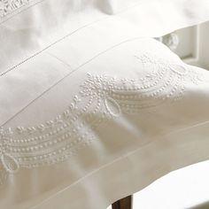 Francesca Linen Pillowcases--Cologne & Cotton--BEDROOM--Bed Linen #Cologne & Cotton #Bed Linen