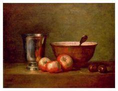 'The Silver Cup', 1769 (oil on canvas) , Jean Baptiste Simeon Chirdin