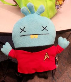 Ugly Doll - the only thing funnier than Star Trek themed Ugly Dolls is a dead redshirt Star Trek themed Ugly Doll