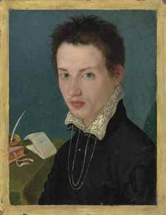 Alessandro Allori (Florence 1535-1607)  | Portrait of a young man, bust-length, at a writing table  | early 17th Century, 16th Century | Christie's