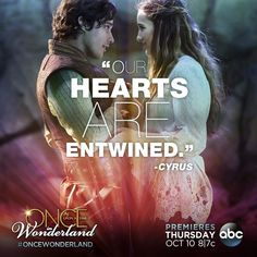 """Once Upon a Time in Wonderland -  Alice: """"The proof is for my Father. He thinks I'm insane."""" Cyrus: """"Really. So you're risking your life for someone who doesn't believe in you. You know, when you really love someone, you don't need proof...you can feel it."""" <3"""