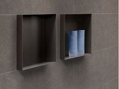 Stainless steel wall niche / bathroom wall shelf C-BOX Charcoal - Easy Sanitary Solutions