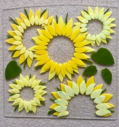 Fused glass - sunflowers how to