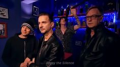 The guys of Depeche Mode being dorks.