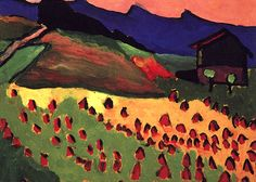 Landscape with Hut in the Sunset 1908 Gabriele Munter