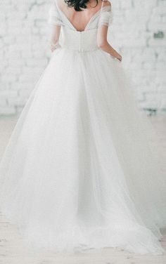 US$120.21-Sexy Trudy Off Tulle Off the Shoulder A Line Wedding Dress with Sleeves and Open Back.  http://www.newadoringdress.com/wedding-trudy-off-shoulder-wedding-grey-tull-wedding-romantic-wedding-tulle-wedding-gown-dress-p711817.html.  Free Custom-made & Free Shipping! Shop lace wedding dress, strapless wedding dress, backless wedding dress, with sleeves, mermaid wedding dress, plus size wedding dress, We have great 2016 best Wedding Dresses on sale at #NewAdoringDress.com today!