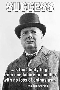 """The British Prime Minister Winston Churchill. It was on this day (June in 1940 that Winston Churchill gave his famous speech in which he urged his countrymen to take courage so that future generations would say, """"this was their finest hour. Citations Winston Churchill, Churchill Quotes, Motivational Posters, Quote Posters, Success Poster, Art Of Manliness, British Prime Ministers, Fidel Castro, Thoughts"""
